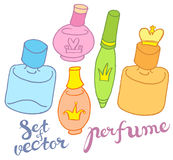 Vector perfume bottles Royalty Free Stock Photo