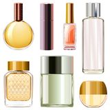 Vector Perfume Bottles Royalty Free Stock Photos