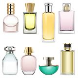 Vector Perfume Icons Set 3 Royalty Free Stock Image