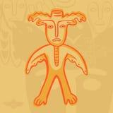 Vector Permian bronze gods man-moose Stock Images
