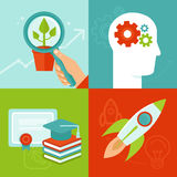 Vector personal development concepts in flat style Stock Image