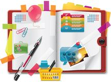 Vector personal organizer features XXL icon Royalty Free Stock Images