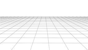 Vector perspective grid with detailed lines vector illustration