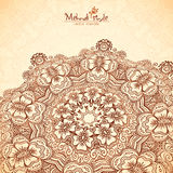 Vector perspective mehndi mandala in henna tattoo Stock Image