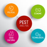 Vector PEST diagram schema Stock Images