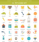 Vector pet color flat icon set. Elegant style design. Royalty Free Stock Images