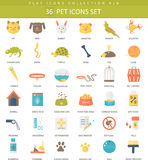 Vector Pet color flat icon set. Elegant style design. Stock Photo