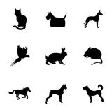 Vector pet icons set Stock Images
