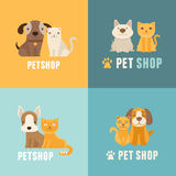 Vector pet shop logo design templates Stock Photography