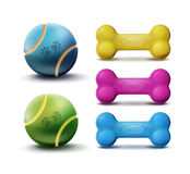 Vector pet toys Stock Photography