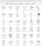 Vector Pet ultra modern outline line icons for web and apps. Vector Pet ultra modern outline line icons for web and apps Stock Photography