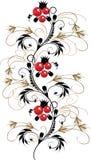 Vector petrikovsky ornament royalty free stock photo