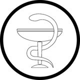 Vector pharma symbol. Black and white. Simply change Royalty Free Stock Photography