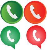 Vector phone call icons Stock Photos