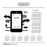 Phone and flat keypad Royalty Free Stock Image