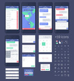 Vector Phone GUI Template. Stock Photography