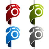 Vector phone icon at the edge of the web page. Symbol Contact us. Button of call center, services. Royalty Free Stock Image