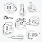 Vector phone icons set Stock Photos