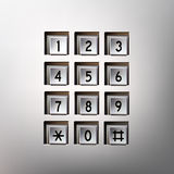 Vector phone number pad Royalty Free Stock Image