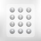 Vector phone numbers with alphabet keyboard Stock Image