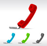 Vector phone receiver. Set  on white Stock Image