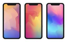 Vector phone x wallpaper. Editable gradient mesh.