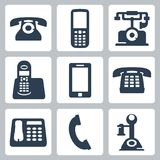 Vector phones icons set Stock Photos