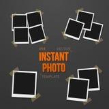 Vector Photo. Blank Vintage Photo Frame Mockup Set Royalty Free Stock Photo