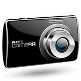 Vector Photo camera. On white Stock Images