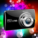 Vector Photo camera 4. Vector Photo camera (black with a color background Stock Photography