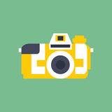 Vector photo camera icon in flat style. Vector illustration photo camera icon in flat style Stock Photo