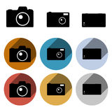Vector photo camera icon set Stock Images