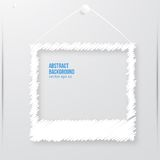 Vector photo frame banner. Vector illustration. Stock Image