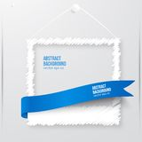 Vector photo frame banner. Vector illustration. Royalty Free Stock Image
