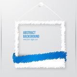 Vector photo frame banner. Vector illustration. Royalty Free Stock Photo
