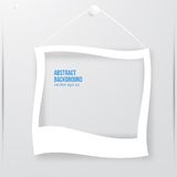 Vector photo frame banner. Vector illustration. Royalty Free Stock Images