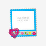Vector photo frame Stock Image