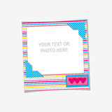 Vector photo frame Royalty Free Stock Photo