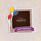 Vector photo frame Stock Images