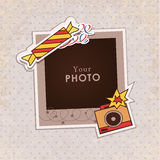 Vector photo frame Stock Photos