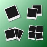 Vector Photo Frame. EPS10 Vector Realistic Snapshot Icon Square Photo Template Royalty Free Stock Images