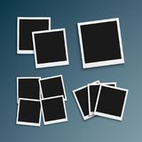 Vector Photo Frame. Realistic Snapshot Modern Photo. Instant Album Photoframe Paper Picture Royalty Free Stock Images