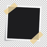 Vector photo frame.Set of realistic paper instant photograph.Tem. Plate design Stock Photo