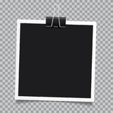 Vector photo frame.Set of realistic paper instant photograph.Tem. Plate design Stock Photos