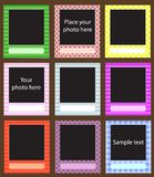 Vector photo frame set for scrapbook Royalty Free Stock Photos