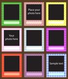 Vector photo frame set for scrapbook Royalty Free Stock Photos