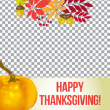 Vector photo frame for thanksgiving. autumn template  social media. Stock Photo