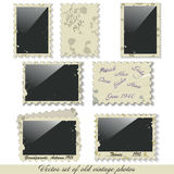 Vector  photo frames. Vector instant photo frames set Royalty Free Stock Photo