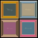 Vector photo frames (vector). Four 3d vector Photo Frame on black background.Increased by Adobe Illustrator Vector Format Royalty Free Stock Photography
