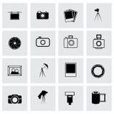Vector photo icon set Royalty Free Stock Image